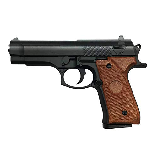 Softair Pistole Airsoft Rayline G22 Voll Metall Mini Pocket (Manuell Federdruck), Maßstab 1:1,8, Gewicht 266g, 6mm Kaliber, Farbe: Schwarz