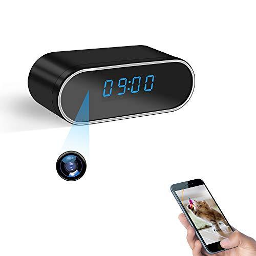 Cámara Espía WiFi ,Cámara con Reloj WiFi LXMIMI Cámara Oculta Espía Microcámara HD 1080P con Reloj de Vsión Nocturna Detector de Movimiento Soporte App Vista Remota
