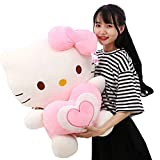 LYYJF Cute Hello Kitty Plush Toy Home Decor Baby Doll Cuddly Animal Stuffed Toy Valentines Birthday Gift,Pink,30CM