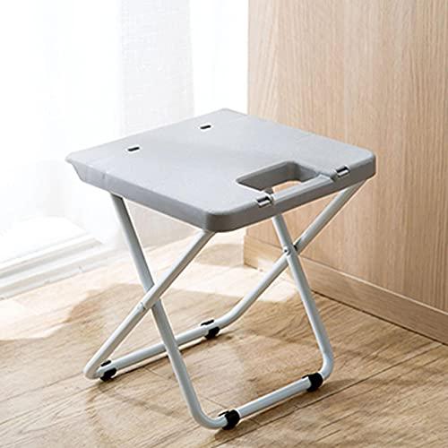 GSDJU Taburete Plegable Silla de Ducha portátil Multifuncional Sillas cómodas Plegables Que ahorran Espacio Cocina Interior para el hogar al Aire Libre