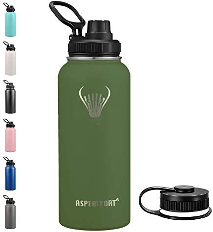 Stainless Steel Water Bottle With Straw Lid Double Walled Vacuum Insulated Metal Thermos Flask product image