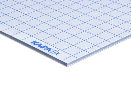pappenwelt.de KAPA fix 1-seitig selbstkleben 3,0 mm Student-Kombibox 1 Box = 8 Platten 30 x 40 cm + 4 Platten 19 x 30 cm