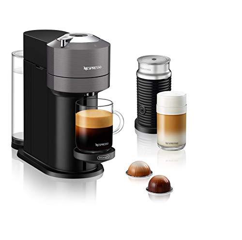 De'Longhi Nespresso Vertuo Next ENV 120.GYAE - Macchina per caffè con montalatte Aeroccino, colore: Grigio