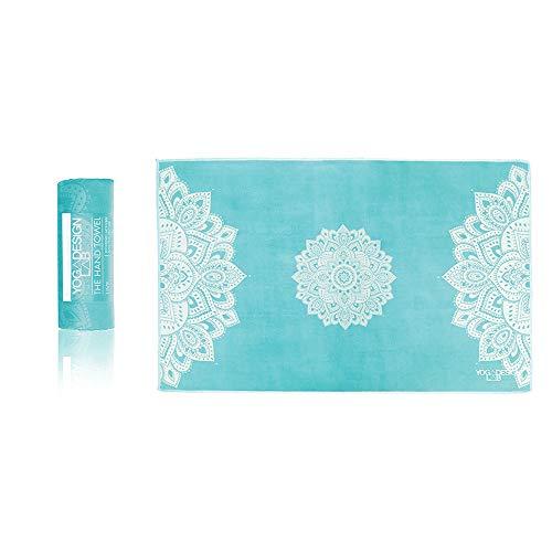 Yoga Design Lab Yoga Handtuch | Leichtes, Saugfähiges, Hand und Gesicht Yogahandtuch für Dein schweißtreibendes Training (Mandala Turquoise)