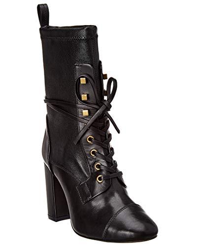 Stuart Weitzman Damen Leder Stiefeletten Stiefel Ankle Boots mit Absatz Schwarz EU 38.5 VERUKA