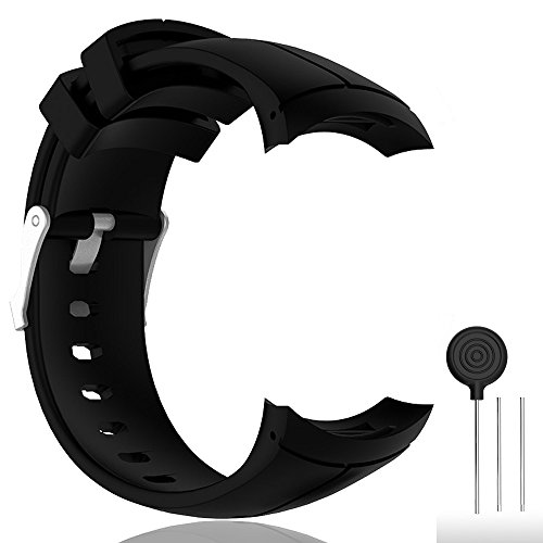 Cyeeson Bracelet de rechange en silicone pour montre intelligente Suunto Spartan Ultra/Ultra HR GPS, Noir