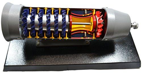 Turbojet Gas Engine Desktop Model - 19'x9' Metal Base, 16' Turbojet Length - Eisco Labs