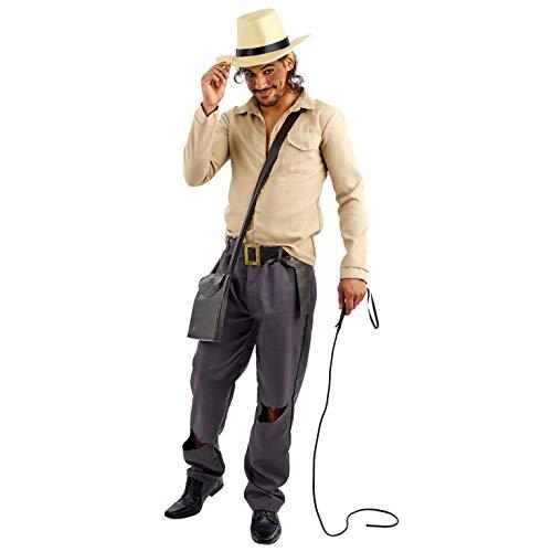 Fun Shack Beige Archäologischer Abenteurer Kostüm für Herren - Extra-Groß