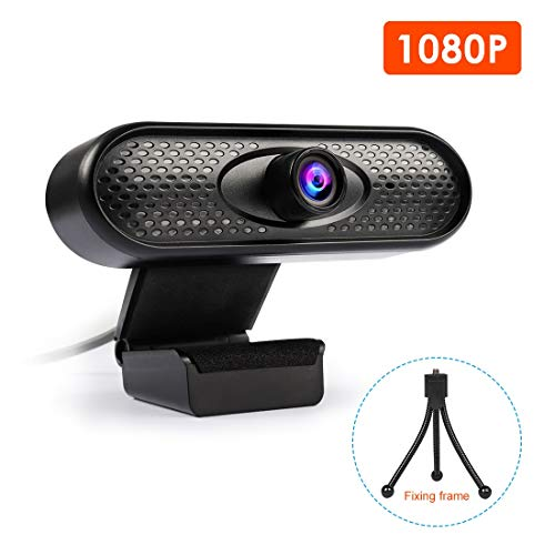 MASCARELLO Webcam Ultra HD 1080P, USB Webcam con micrófono, reducción de ruido para cursos en línea, clases de e-learning, transmisión en vivo, compatible con TV negro SX-CTBZY
