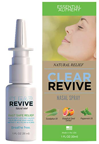 Clear Revive - All Natural, 24 Hour Fast Relief, Drug Free, Non-Habit Forming, Moisturizing Allergy Nasal and Sinus Spray (2)