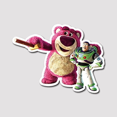 LVLUO Toy Story Maleta Etiqueta engomada Strawberry Bear Buzz Lightyear Etiqueta Engomada Portátil de Ordenador Impermeable Tamaño de la Etiqueta Engomada Puede