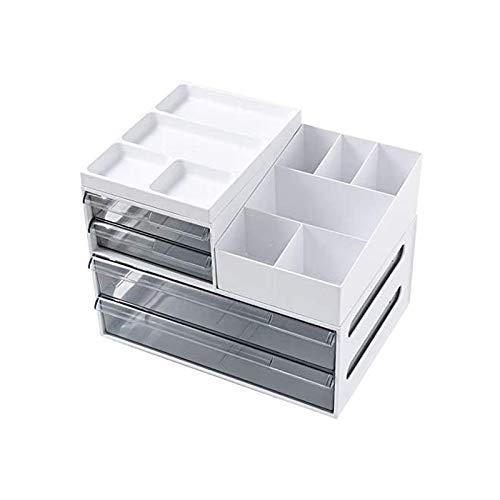 YiGanQiang Cajas de cajones/contenedor de cajones (2 cajones A4 y cajones 2A5) - Diseño Cofre A4 - Plástico, Organizador de Documentos de Oficina. (Color : Sahne)