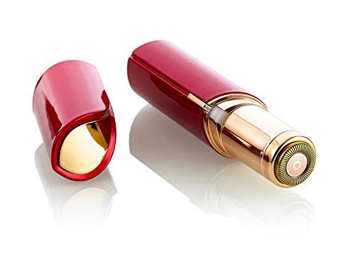 Gesichtsepilierer Gesicht Epiliergerät,Elektrisch Epilierer für Frauen Touch flawless Rasierer aus lippe schmerzloser Epilator Gesichtshaar Entferner Damen - Rot