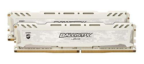 Crucial Ballistix Sport LT BLS2K8G4D30AESBK 3000 MHz, DDR4, DRAM, Memoria Gamer Kit para ordenadores de sobremesa, 16 GB (8 GB x 2), CL15 (Gris)