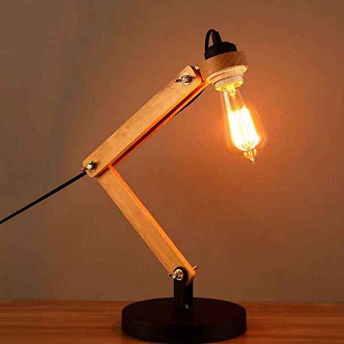 Lámparas de mesa Lámparas de escritorio moderno y sencillo de madera Lámpara...