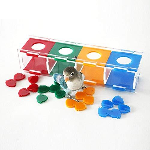 Createjia Parrot Intelligence Toy Farbseparation Münzkassette Intelligenztraining Und Interaktives Spielspielzeug