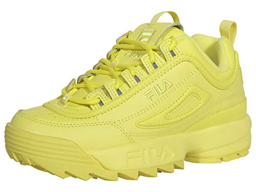 Fila womens Fila Disruptor Ii Premium Women's Sneaker, Yellow-yellow-yellow, 7 US