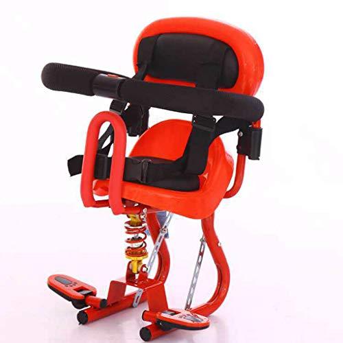 Bdclr Kindersitz Vorne Elektroauto Roller  Kindersitz Vorne Antikollisions-Babyschale Umweltschutz,Rot