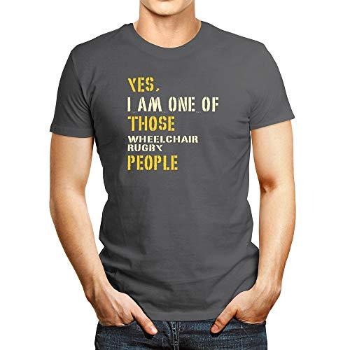 Idakoos YES I AM ONE OF THOSE ROLLSTUHL Rugby People T-Shirt - Silber - Mittel