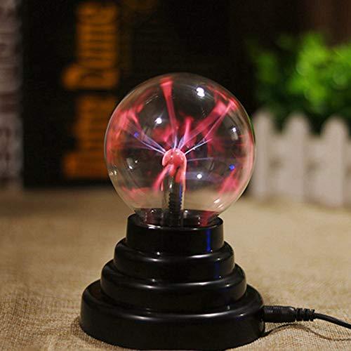 BEIAOSU - Lampada al plasma magica a sfera da 7,6 cm, con mini lampada al plasma sensibile al tatto, per decorazione di feste e camere da letto