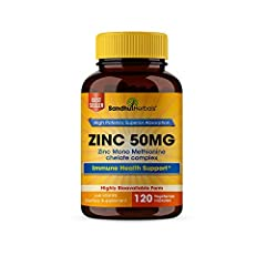Zinc 50mg for Immune Health Support* 4 Months Supply Zinc Mono Methionine is Superior Absorption & Retention Vegan High potency – Zinc Mono Methionine Boosts Sleep and Energy Levels- Taking zinc everyday may support cognitive ability, mood, energy le...
