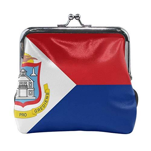 Holandés bandera de San Martín linda hebilla monederos hebilla hebilla cambio monedero carteras