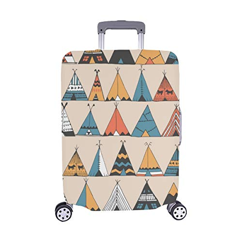 Tipi Muster Wigwam Indianer Sommer Muster Spandex Staubschutz Trolley Protector case Reisegepäck Beschützer Koffer Cover 28,5 X 20,5 Zoll