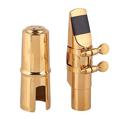 malto sassofono contralto sassofono Head 6# Outhpiece legatura nichel testa resistente con tappo in ottone e Reed accessori