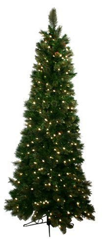 Good Tidings Special Happy Corp LTD Royal Cashmere Artificial Prelit Christmas Tree 7-1/2 Feet Tall with 500 Clear