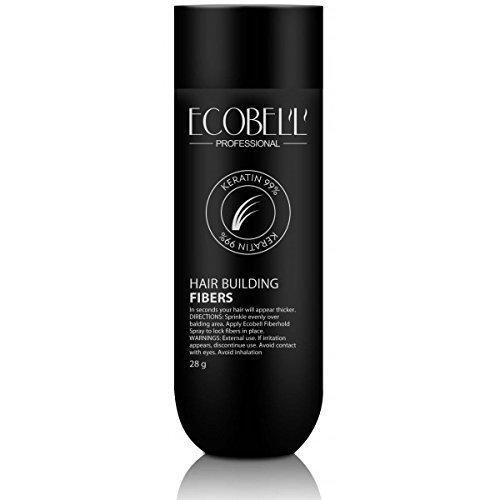 Ecobell 28 gramos CASTAÑO OSCURO Polvo de cabello voluminizador definidos por el calvicie