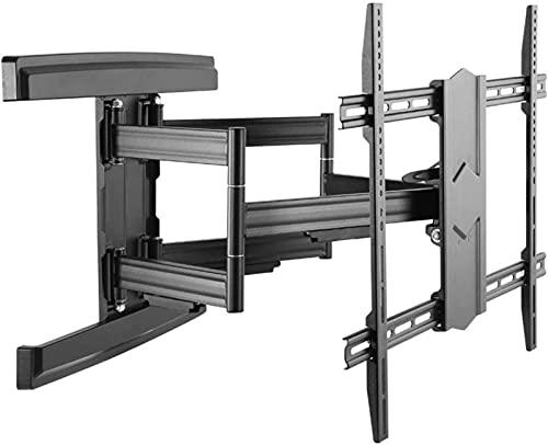 Soporte para TV, Soporte para TV, Soporte para TV montado en la pared Inclinación y giro de brazo doble para televisores con pantallas de plasma LED de 43-100 pulgadas - hasta 800 mm x 500 mm - Carga