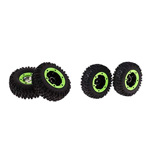 FLAMEER RC Neumático de Rueda Ruedas Recambio de Accesorios para Wltoys 12428 1/12 RC Buggy Crawler
