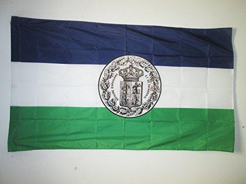 AZ FLAG Drapeau Royaume d'Araucanie et de Patagonie avec Armes 150x90cm - Drapeau Nouvelle-France 90 x 150 cm Fourreau pour hampe