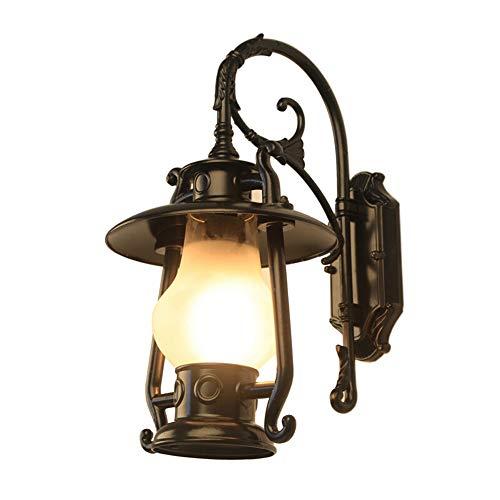 Huabei2 Kristallleuchter LEDWALL Lampe Tischlampe Nacht l Klassiker der europäischen Garten-Licht im Freien wasserdichte Wandleuchte im Innen- und Außen Balkon Garten Außenwandleuchte Schwarz