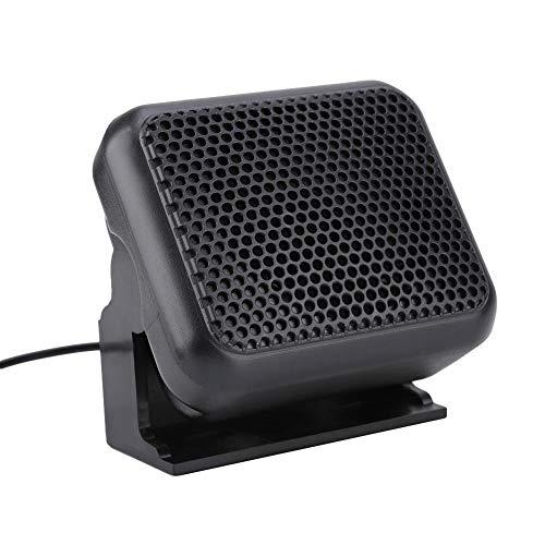 3.5W Altavoz con Jack de 3.5 mm para Radios de Automóvil Kenwood Yaesu ICOM Ham, Mini Altavoz Externo NSP-100 Radio Móvil, Sonido Estéreo, Cable de 4 Metros, Altavoz Portátil Ajustable