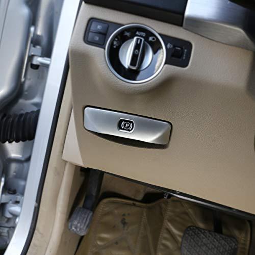 DIYUCAR Matt Silber ABS Chrom für Benz C Klasse W204 GLK Klasse 2008–2014 Auto Elektronische Handbremse Button Cover Trim Sticker Zubehör
