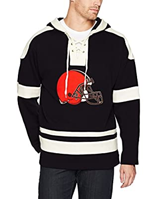 OTS NFL Cleveland Browns Men's Grant Lace Up Pullover Hoodie, Logo, X-Large