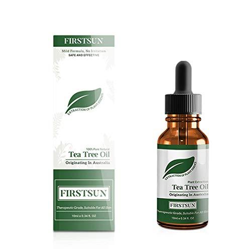 Aceite esencial de árbol de té Firstsun 10 ml aceite de masaje hidratante control de desvanecimiento Contracción de poros Repara e hidrata la piel y (color: color transparente)