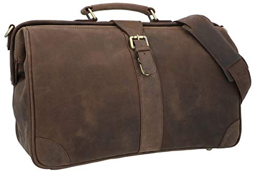 Gusti Anderson Leather Doctor's Suitcase Travel Bag Sports Bag Weekender Hand Luggage Brown Leather