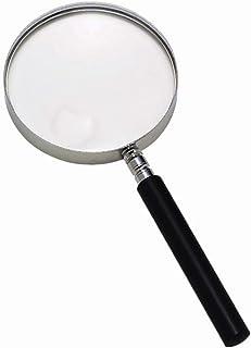 15X25X Round Double Lens Handheld Elderly Low Vision Reading Magnifier (Color : Gray) Detazhi (Color : Gray)