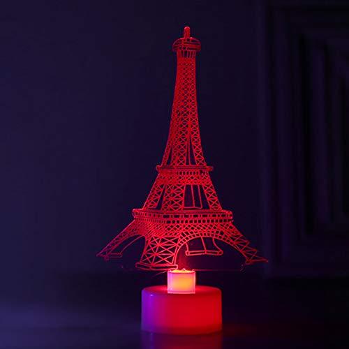zNLIgHT kleurverandering 3D kerstboom Santa Towers LED nachtlampje lamp Home Decor