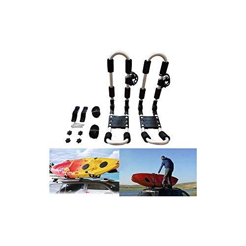 FQCD Kayak Carros, Equipo de navegación, Kayak Plegable Rack de Techo, Soporte Universal de Canoa Kayak almacenaje de Portador del Coche de Carril del Techo del Portador for el Surf y esquí