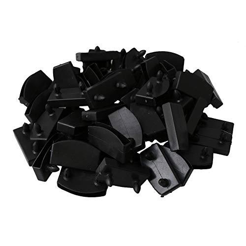WEIEN 50 Stück 50 mm Kunststoff Bett-Mittelkappen Endkappen, Ersatz für Lattenrost zur Befestigung von Schwarz (55mm)