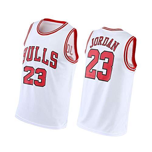 CXMY Jordan Basketball Jersey Bulls 23#, Unisex Mesh Sportswear Vest, Summer Sleeveless Basketball Swingman Jersey Breathable Tops-White-S