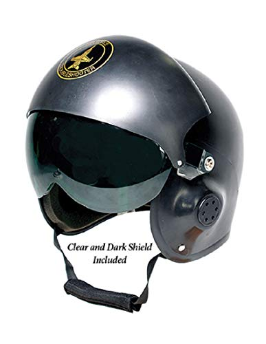 Adult Costume Pilot Helmet Black