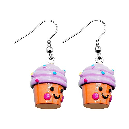 Treuheld   Cupcake Ohrringe/Ohrhänger - süße Muffin Hänger fürs Ohr