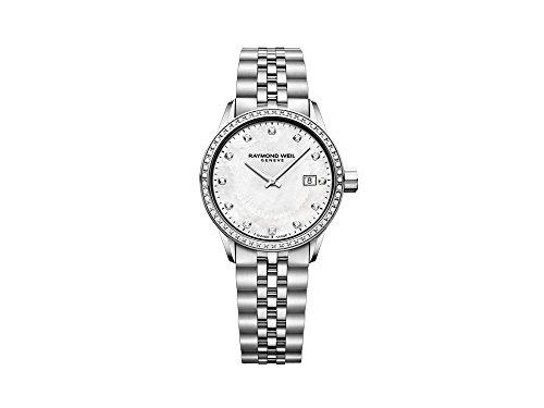Raymond Weil Freelancer Damen-Armbanduhr, Quarz, 67 Diamanten, Perlmutt, 29 mm