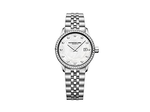 Reloj de Cuarzo Raymond Weil Freelancer Ladies, 67 Diamantes, Madre Perla, 29mm