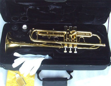 Anaxa Brass Bb Trumpet w/Case.Approved+Warranty