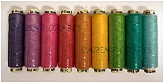 Sue Spargo Ellana Wool Blend Thread for Embroidery - Nine 70-Yard Spools, Matches The ''House